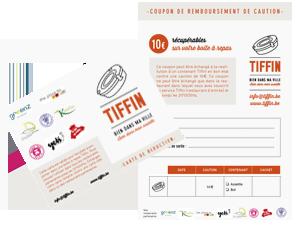 Service Tiffin : Carte de réduction de 5% et le coupon caution de 10€
